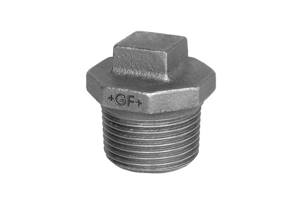Galvanized mall. Hexagon plug (nr 290) BSP 1""